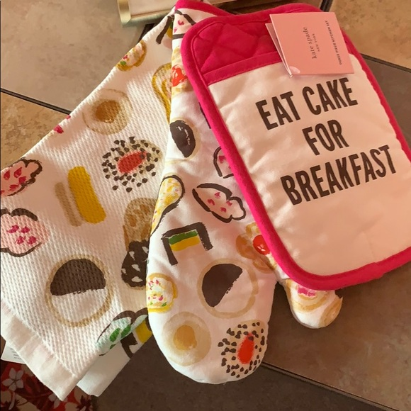 "kate spade Other - Kate Spade ""Eat Cake for Breakfast"" 3 piece set"